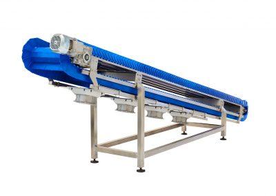 Plastic Modular Infeed Conveyor by Egli