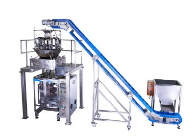 Mulithead Weigher with platform Accuracy and speed for multiple products attached to Packaging Machine